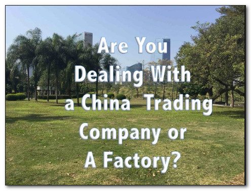 chinese factory or trade company
